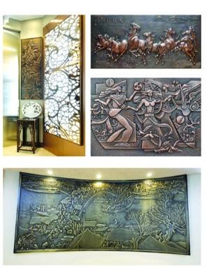 铝雕背景墙