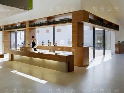 澳大利亚卡塔罗红酒中心-仿木商业酒柜