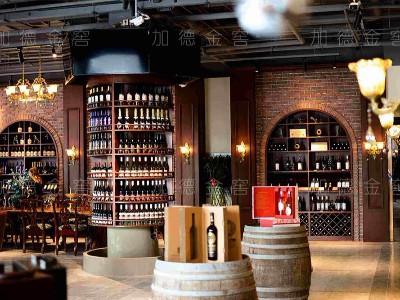 澳大利亚luca红酒酒庄-仿木商业酒架