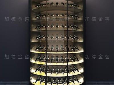 浙江朗名居酒庄定制圆弧酒柜