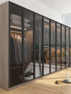 不锈钢玻璃衣柜门
