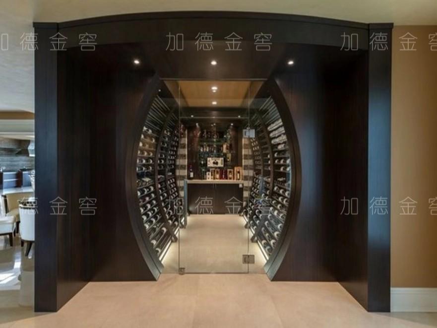 香港协力室内设计公司仿木酒窖