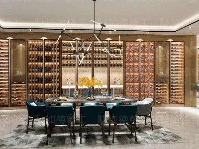 长沙茅台酒形象店-不锈钢酒柜展示柜