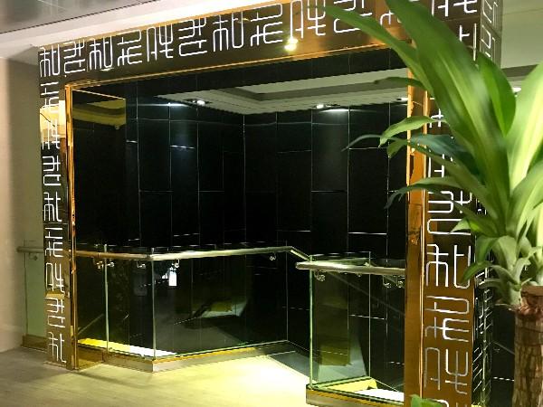 欧创展厅-不锈钢门套