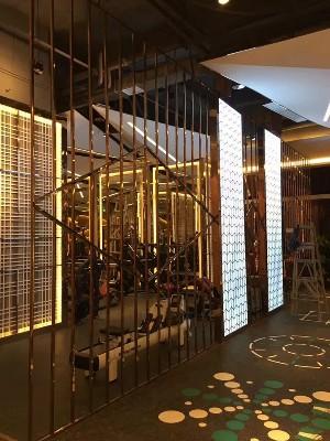 星级酒店不锈钢背景装饰墙定制